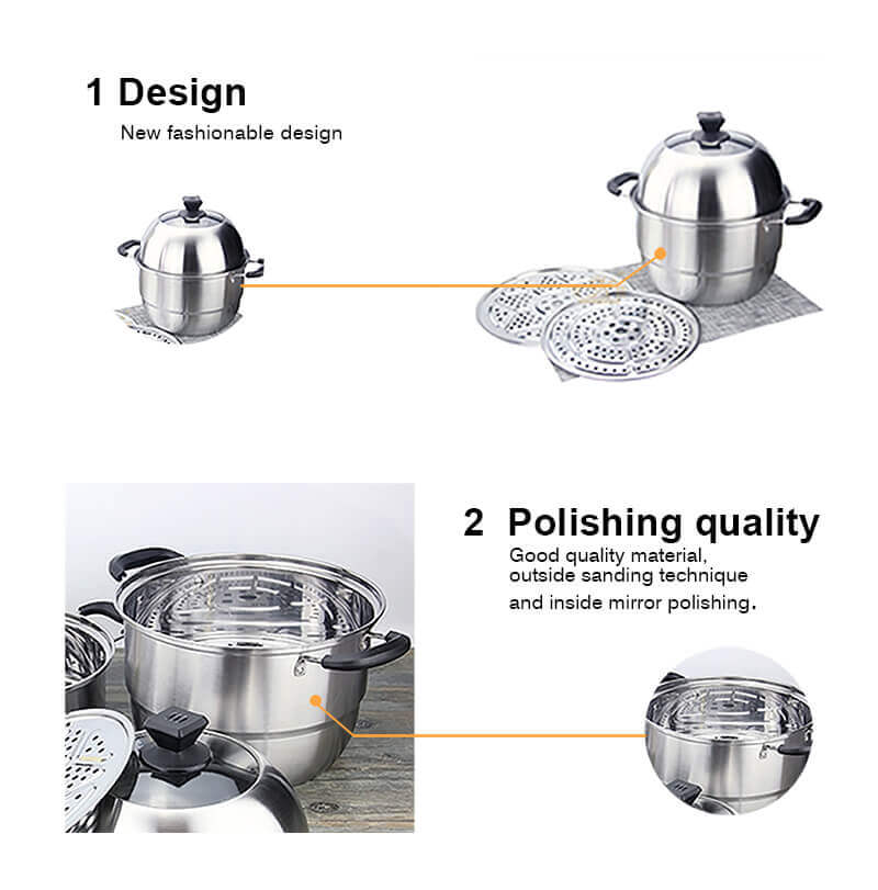 stainless steel pot supplier cookware pot set   soup pot set