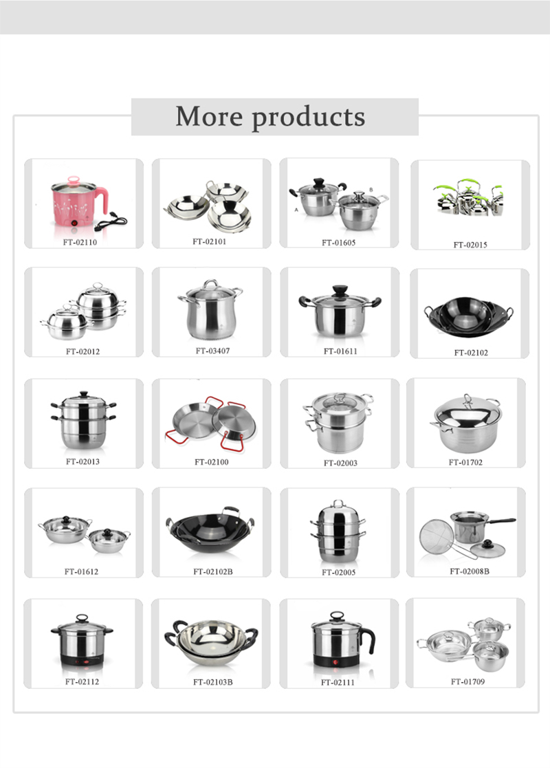 stainless steel cooking pot cheap cookware pot set   soup pot set